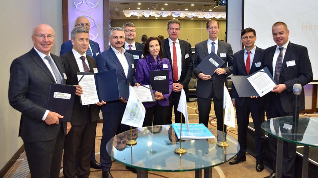 Auf der EAWU-Konferenz in Minsk wurde das Memorandum zur Verstäkung der wirtschaftlichen Zusammenarbeit zwischen der EU und der EAEU unterschrieben.