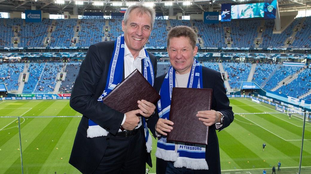 OMV-Chef Rainer Seele und Gazprom-Chef Alexej Miller