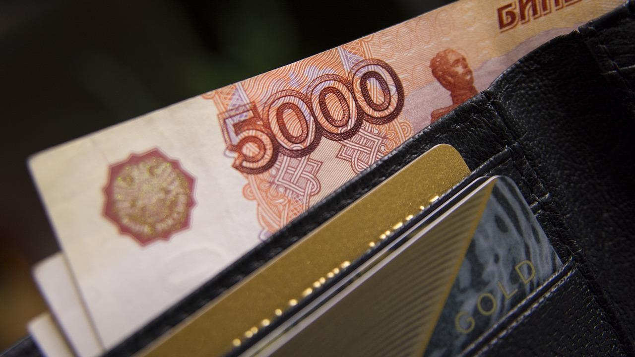 Rubel in Brieftasche