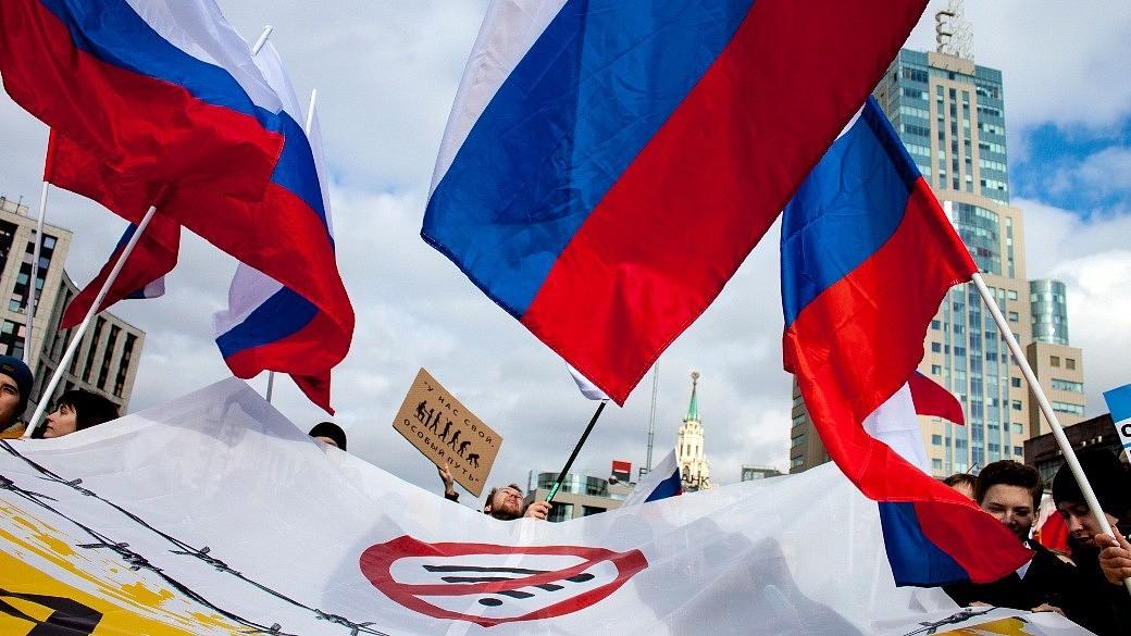 Russland Proteste gegen Internetgesetze