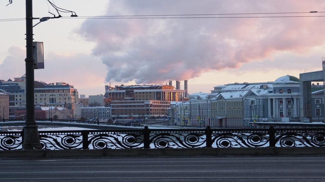 Moskau Winter Fabrik Industrie