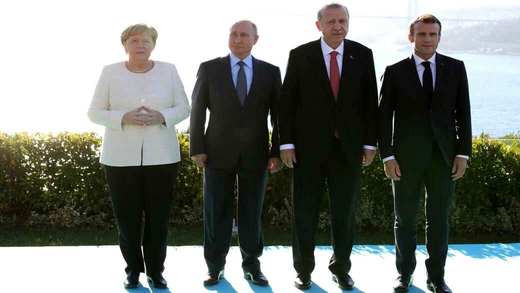 Merkel, Macron, Putin, Erdogan (2)