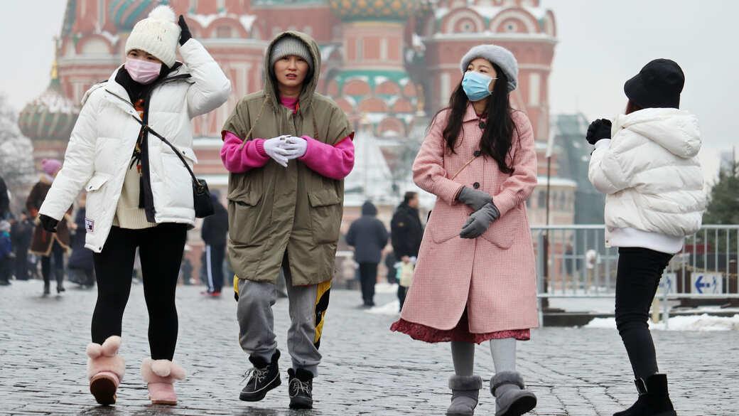 Touristen auf dem Roten Platz