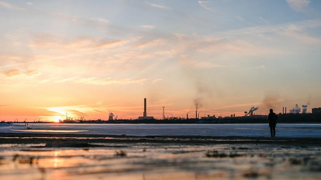 Sonnenuntergang bei Tscherepowez