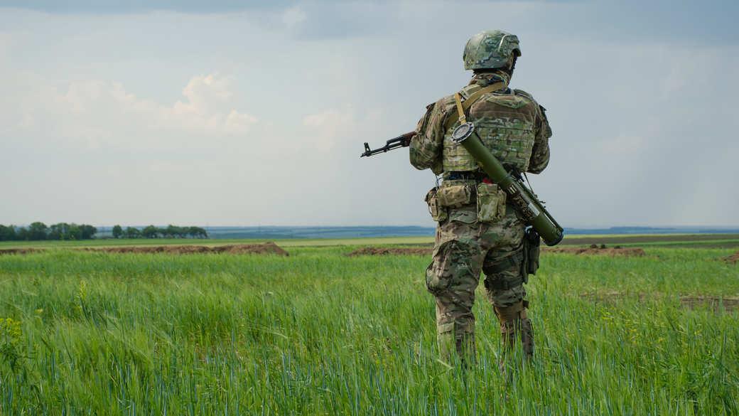 Ukrainischer Soldat