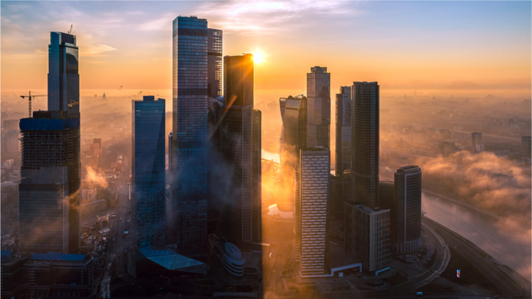 Wirtschaft Sonne Moskau City
