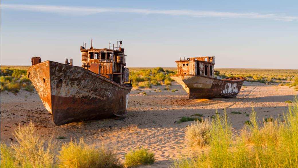 Schiffe im Aralsee