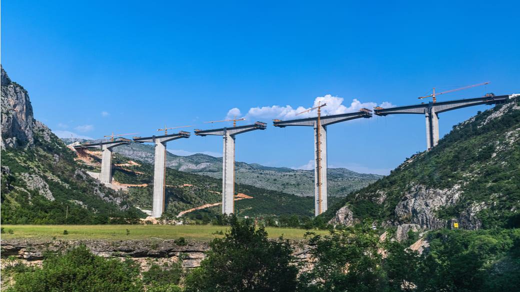 Brückenbau Montenegro