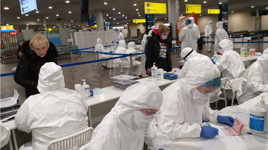 Flughafen Scheremetjewo Virus Kontrolle