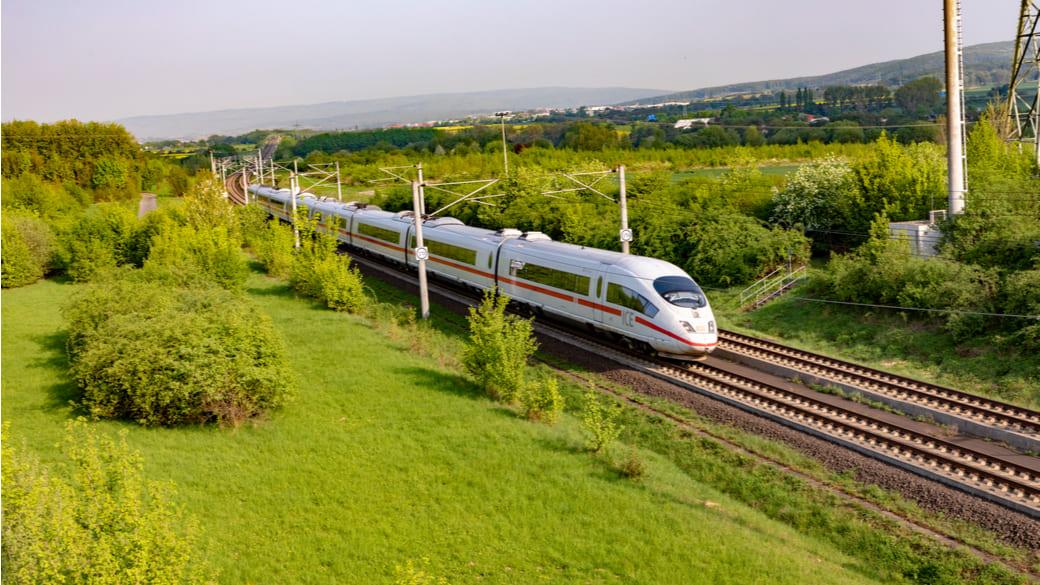 ICE Zug Deutsche Bahn