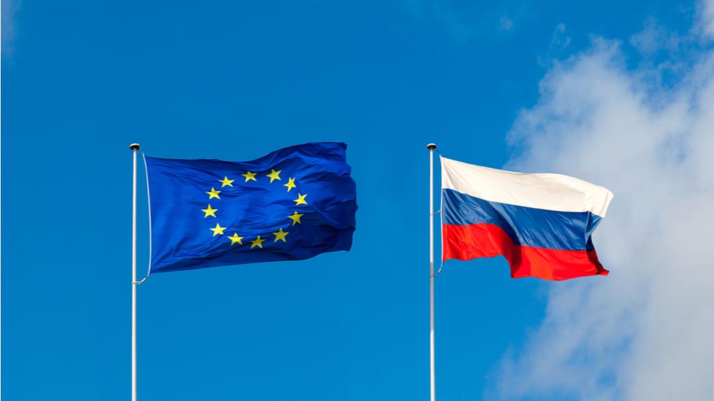 Russland EU Flagge