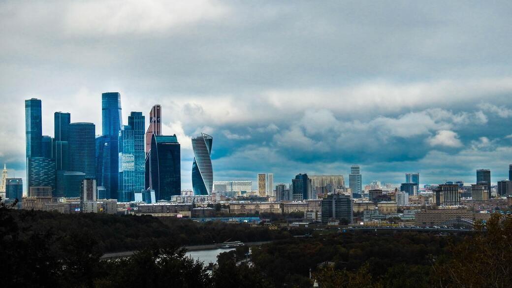Moskau City Wirtschaft Wolken