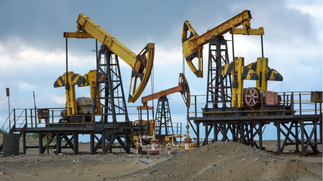 Schaukelstuhl für Öl. Nordteil der Sakhalinsel, Russland.