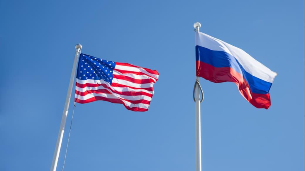 USA Russland Flaggen