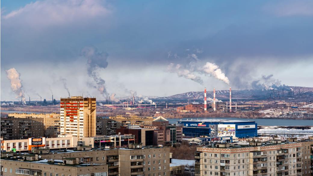 Emissionen in Magnitogorsk