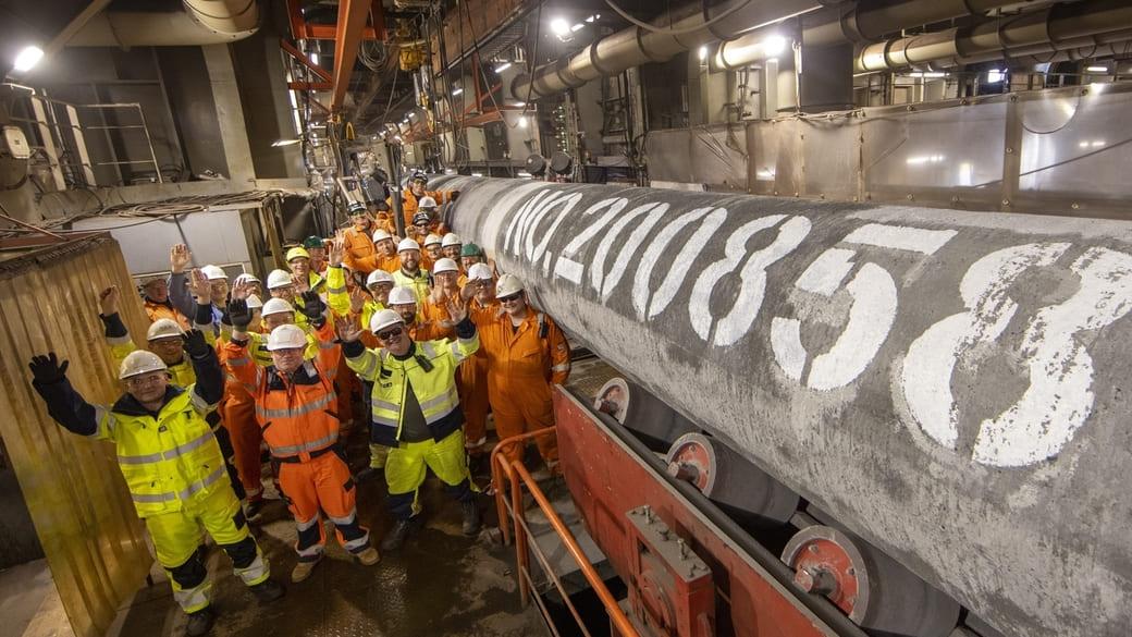 Letztes Rohr Nord Stream 2