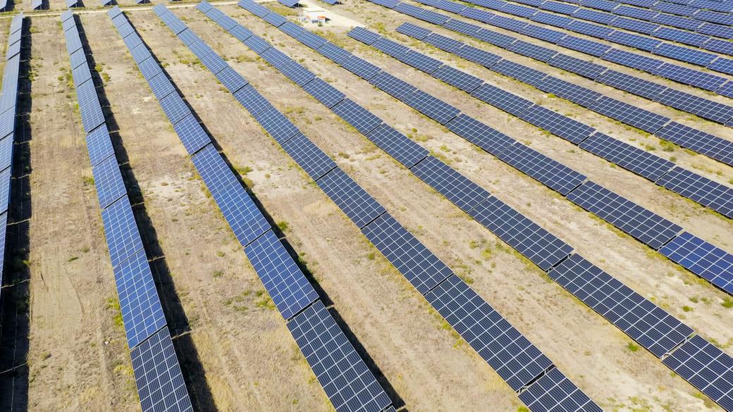 Solaranlage in Stawropol, Russland