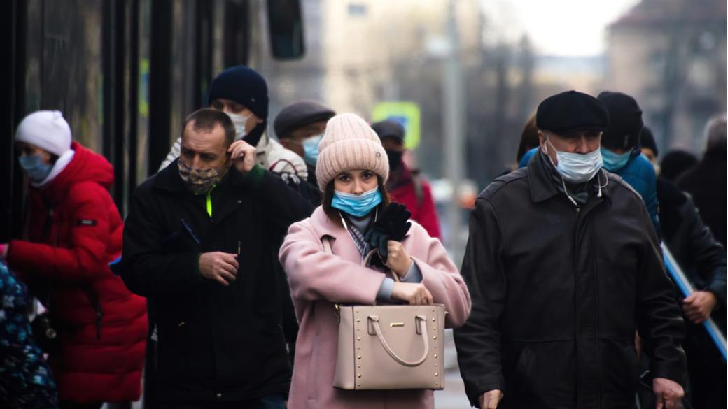 St. Petersburg Menschen mit Maske