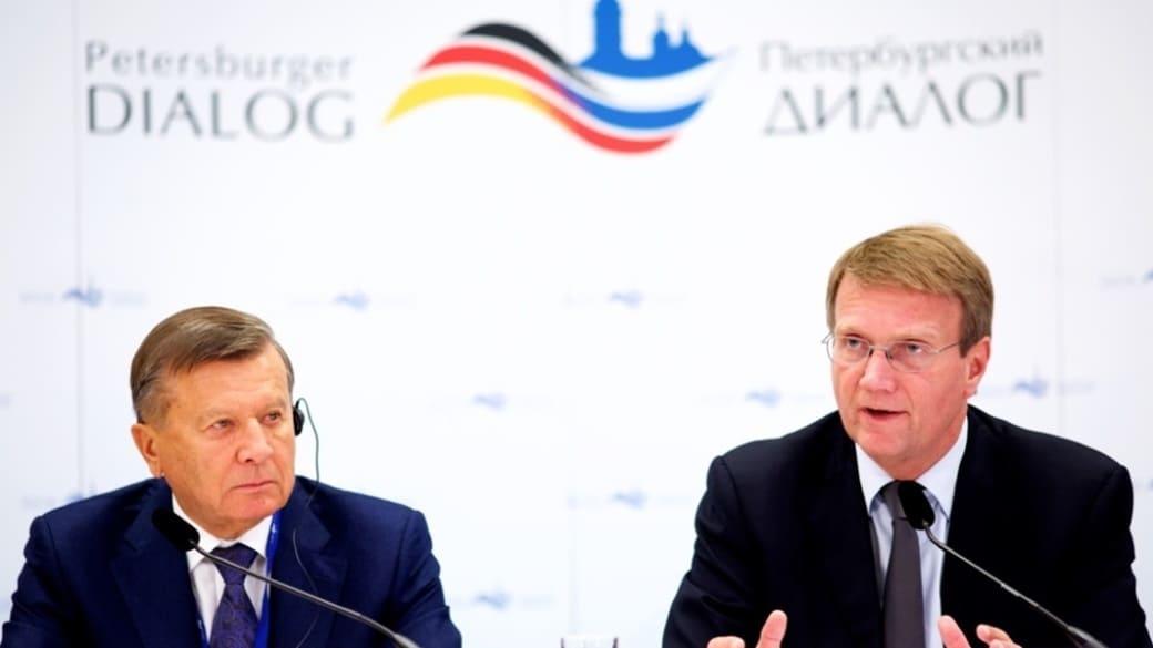 Petersburger-Dialog-2015-Potsdam-Vorsitzende Pofalla